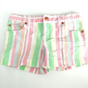 Peek Girls Dungarees Cotton Candy Stripe Shorts 12